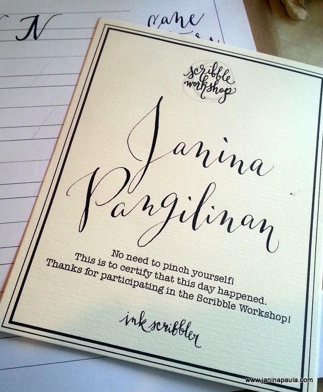 Ink Scribbler Certificate