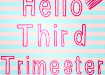 Pregnancy Diaries: Hello, Third Trimester!